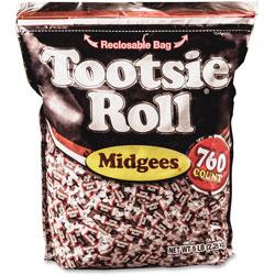 Tootsie Roll® Midgees, Original, 5 lb Bag