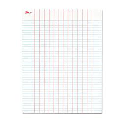 TOPS Data Pad w/Plain Column Headings, 8.5 x 11, White, 50 Sheets