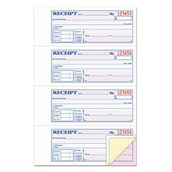 TOPS Money/Rent Receipt Books, 2-3/4 x 7 1/8, Three-Part Carbonless, 100 Sets/Book