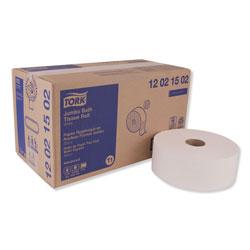 Tork Advanced Jumbo Bath Tissue, Septic Safe, 2-Ply, White, 1600 ft/Roll, 6 Rolls/Carton
