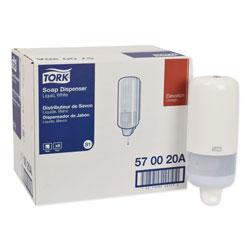 Tork Elevation Liquid Skincare Dispenser, 1 L Bottle; 33 oz Bottle, 4.4 in x 4.5 in x 11.5 in, White