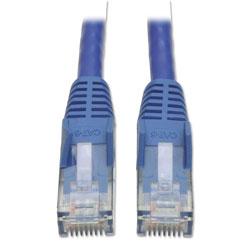 Tripp Lite Cat6 Gigabit Snagless Molded Patch Cable, RJ45 (M/M), 1 ft., Blue