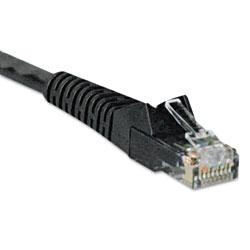 Tripp Lite Cat6 Gigabit Snagless Molded Patch Cable, RJ45 (M/M), 7 ft., Black