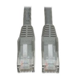 Tripp Lite Cat6 Gigabit Snagless Molded Patch Cable, RJ45 (M/M), 10 ft., Gray