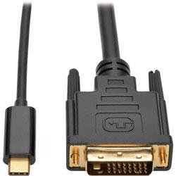 Tripp Lite Adapter Cable, USB-C to DVI, Gen 1, USB 3.1, M/M, 6'L