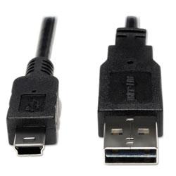 Tripp Lite Universal Reversible USB 2.0 Cable, Reversible A to 5-Pin Mini B (M/M), 6 ft.