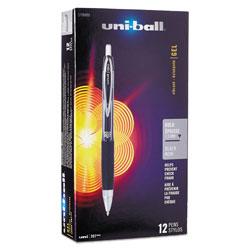 Uni-Ball Signo 207 Retractable Gel Pen, 1mm, Black Ink, Translucent Black Barrel, Dozen