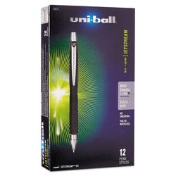 Uni-Ball Jetstream Retractable Ballpoint Pen, Bold 1mm, Black Ink, Black Barrel