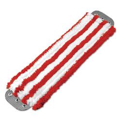 Unger Microfiber Mop Head, 16 x 5, Medium-Duty 7mm Pile, Red/White