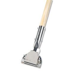 Boardwalk Clip-On Dust Mop Handle, Lacquered Wood, Swivel Head, 1 in Dia. x 60in Long