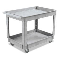 Boardwalk Utility Cart, Two-Shelf, Plastic Resin, 24w x 40d, Gray