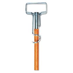 Boardwalk Spring Grip Metal Head Mop Handle for Most Mop Heads, 60 in Wood Handle