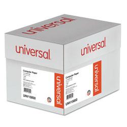 Universal Office Products Printout Paper, 1-Part, 15lb, 14.88 x 11, White/Green Bar, 3, 000/Carton
