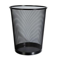 Universal Office Products Mesh Wastebasket, 18 qt, Black