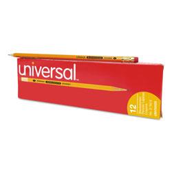Universal Office Products Deluxe Blackstonian Pencil, HB (#2), Black Lead, Yellow Barrel, Dozen