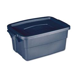 Rubbermaid Roughneck Storage Box, 10 5/8w x 15.687d x 7h, Dark Indigo Metallic