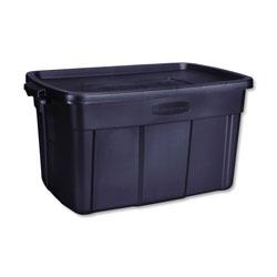 Rubbermaid Roughneck Storage Box, 20 2/5w x 32 3/10d x 16 7/10h, Dark Indigo Metallic