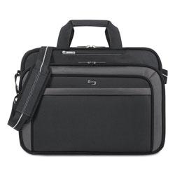 Solo Pro CheckFast Briefcase, 17.3 in, 17 in x 5 1/2 in x 13 3/4 in, Black