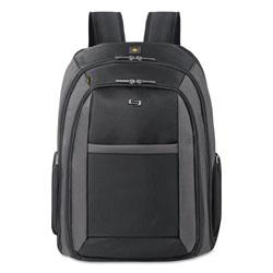 Solo Pro CheckFast Backpack, 16 in, 13 3/4 in x 6 1/2 in x 17 3/4 in, Black