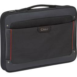 Solo Executive Slip Briefcase, 17.3 in Black/Red