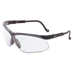 Uvex Safety Genesis Safety Eyewear, Black Frame, Clear Lens