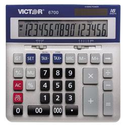 Victor 6700 Large Desktop Calculator, 16-Digit LCD