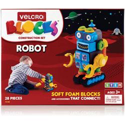 Velcro Blocks Construction Set, Robot, 6 inWx5-1/10 inLx8-9/10 inH, Multi