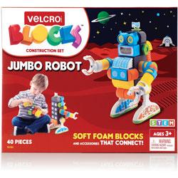Velcro Blocks Construction Set, Robot, 7-9/10 inx5-3/5 inx11-1/2 inH, MI