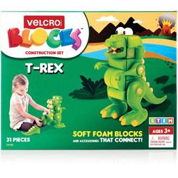 Velcro Blocks Construction Set, T-Rex, 7 inWx9-3/4 inLx11-2/5 inH, Multi