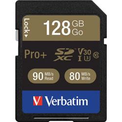 Verbatim Memory Card, SDXC, 90MB/s Read Speed, 128GB