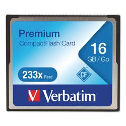 Verbatim 16GB 233X Premium CompactFlash Memory Card