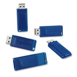 Verbatim Classic USB 2.0 Flash Drive, 16 GB, Blue, 5/Pack