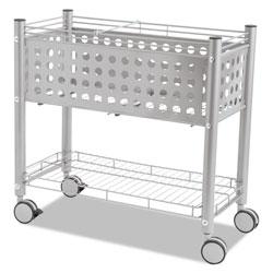 Vertiflex Products Smartworx File Cart, One-Shelf, 28.25w x 13.75d x 27.38h, Matte Gray
