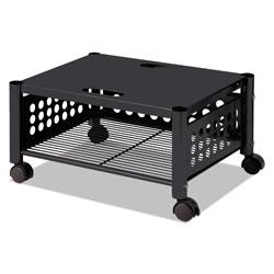 Vertiflex Products Underdesk Machine Stand, One-Shelf, 21.5w x 17.88d x 11.5h, Black
