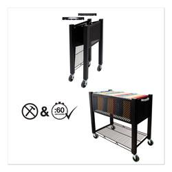 Vertiflex Products InstaCart File Cart, 14.25w x 28.5d x 27.75h, Black