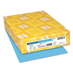Wausau Papers Color Paper, 24 lb, 8.5 x 11, Lunar Blue, 500/Ream