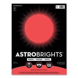 Astrobrights Color Paper, 24 lb, 8.5 x 11, Living Coral, 500/Ream