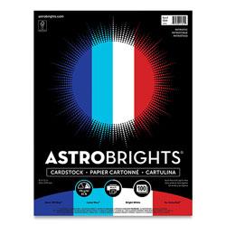 Astrobrights Color Cardstock -  inPatriotic in Assortment, 65 lb, 8.5 x 11, Assorted Patriotic Colors, 100/Pack