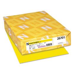 Neenah Paper Exact Brights Paper, 20lb, 8.5 x 11, Bright Yellow, 500/Ream