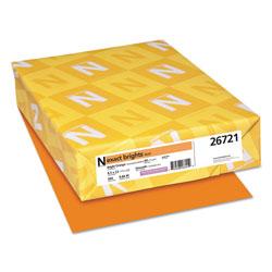 Neenah Paper Exact Brights Paper, 20lb, 8.5 x 11, Bright Orange, 500/Ream