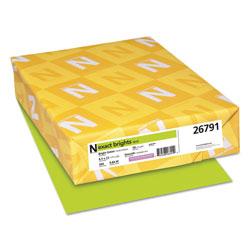 Neenah Paper Exact Brights Paper, 20lb, 8.5 x 11, Bright Green, 500/Ream