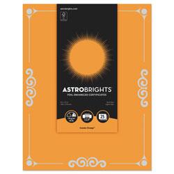 Astrobrights Foil Enhanced Certificates, 8 1/2 in x 11 in, Cosmic Orange, 25/Pk