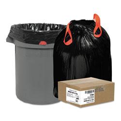 Webster Heavy-Duty Trash Bags, 33 gal, 1.2 mil, 33.5 in x 38 in, Black, 150/Box
