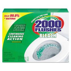 WD-40 2000 Flushes Plus Bleach, 1.25oz, Box, 2/Pack, 6 Packs/Carton
