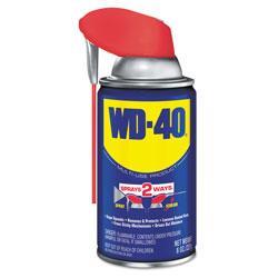 WD-40 Smart Straw Spray Lubricant, 8 oz Aerosol Can, 12/Carton