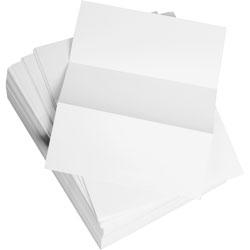 "Weyerhaeuser Company Bulk Custom Cut Sheets, Microperf Every 3-2/3"", 8 1/2"" x 11"", White"