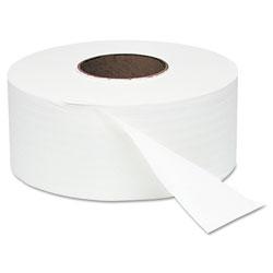 Windsoft Jumbo Roll Bath Tissue, Septic Safe, 1 Ply, White, 3.4 in x 2000 ft, 12 Rolls/Carton