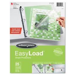 Wilson Jones Side/Top Loading EasyLoad Sheet Protectors, Letter, 25/Pack