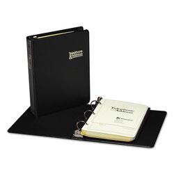 Wilson Jones Looseleaf Phone/Address Book, 1 in Capacity, 5 1/2 x 8 1/2, Black Vinyl, 80 Sheets