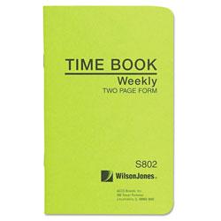 Wilson Jones Foreman's Time Book, Week Ending, 4-1/8 x 6-3/4, 36-Page Book